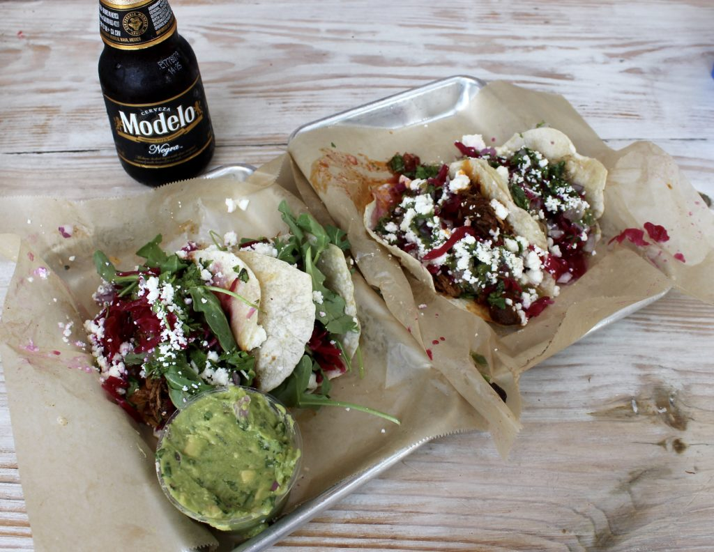 Poppo's Tacos and a Modelo on Anna Maria Island